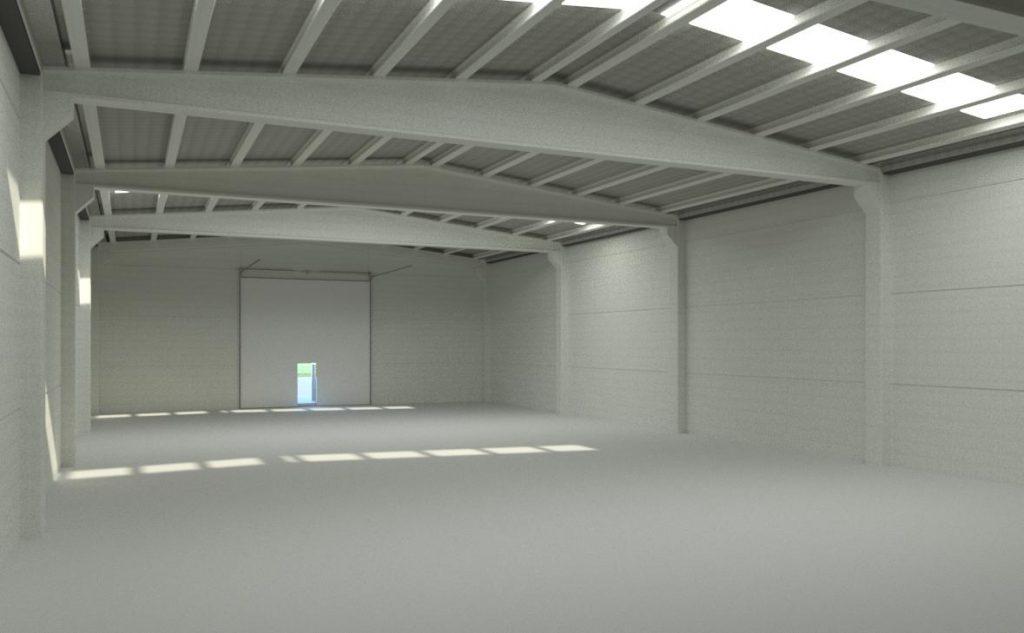 imagen para saber cuánto vale hacer una nave de 200 metros cuadrados
